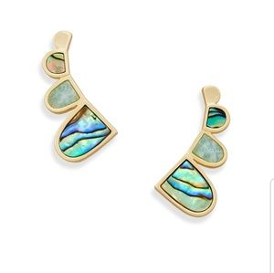 Kendra Scott Abalone Amazonite Ear Climber